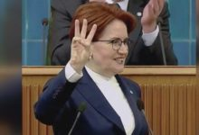 """Akşener'den Erdoğan'a 'Rabia' göndermesi:''Bir tık altında 3 parmak mı göstereceksiniz? """""""