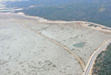 Avlan Gölü'nde sular yüzlerce metre çekildi
