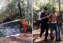 Manavgat'ta 3 yeri ateşe veren ve ormanı yakmaya çalışan şahıs yakalandı