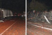 Yola dökülen salçalar facia'ya neden oldu:18 araç çarpıştı